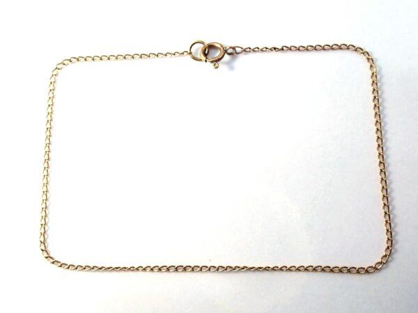 9K Gold Anchor Chain Bracelet – Anklet 8″ 0.50 grams