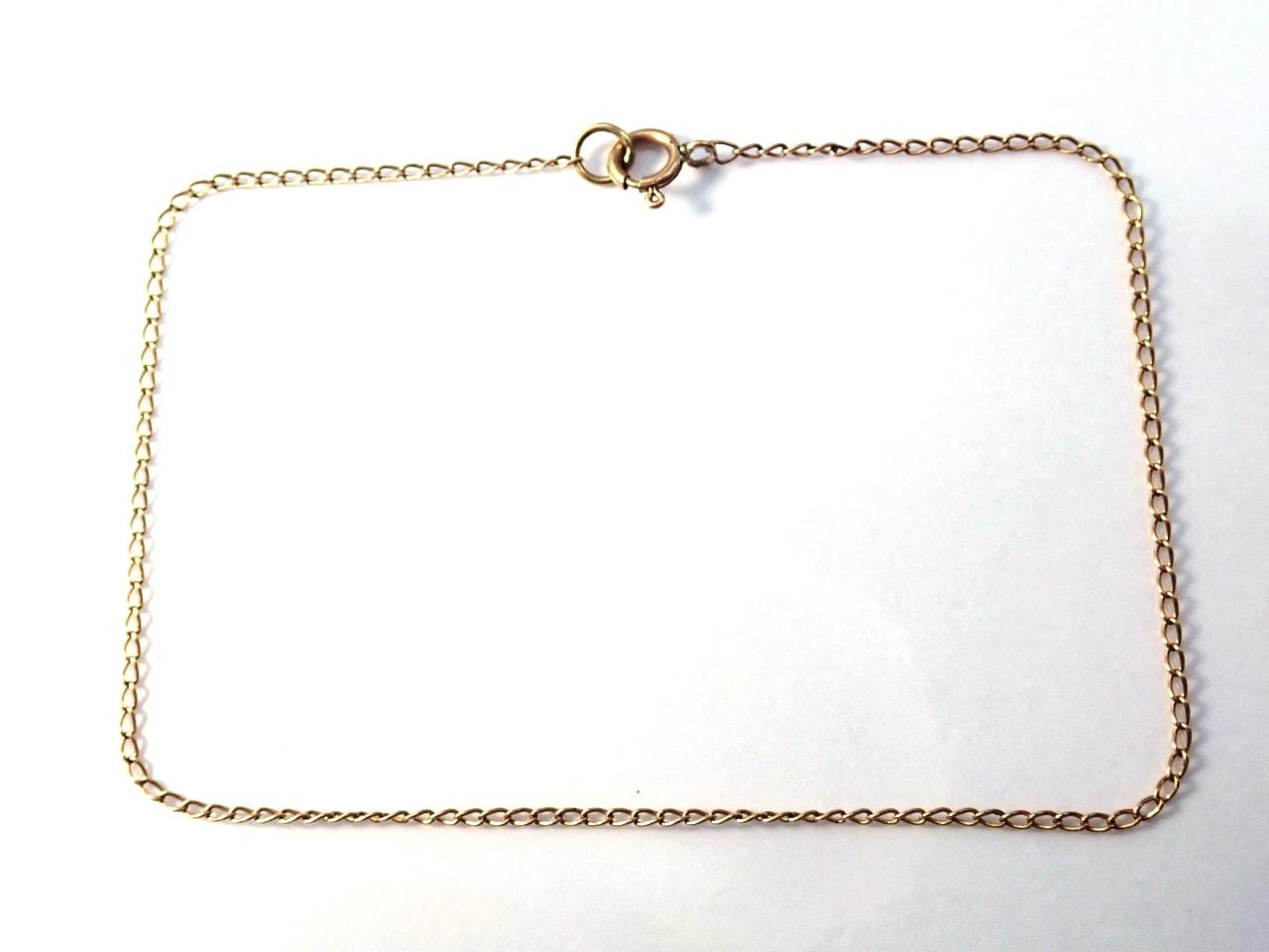 9K Gold Anchor Chain Bracelet - Anklet 8