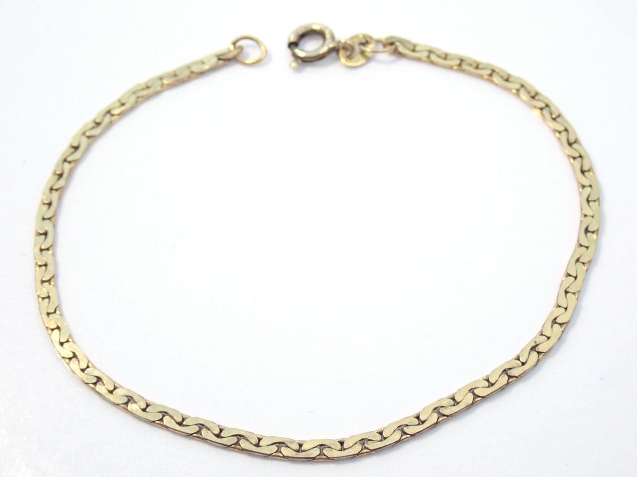 Fancy Linked 9K Gold Bracelet - Anklet 7