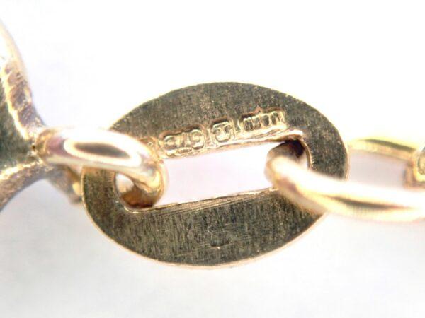 Fancy Linked 9K Gold Bracelet – Anklet 7″ 2.7grams