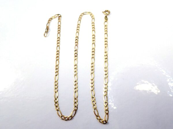 9ct Gold Figaro Necklace 15″ Solid 2.0 Grams