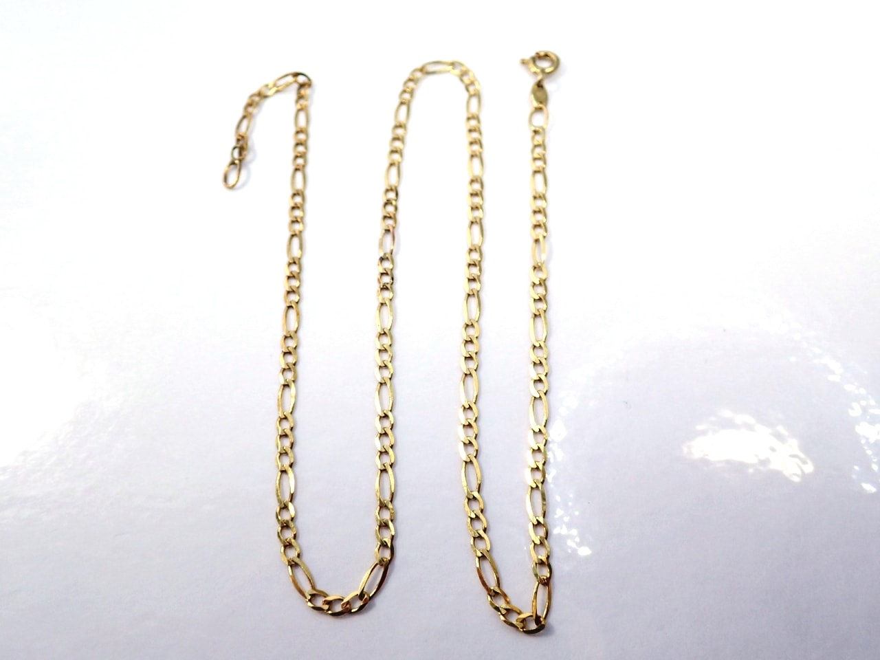 9ct Gold Figaro Necklace 15