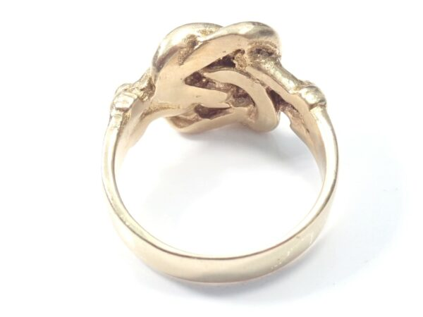 Solid 9ct Knot Ring Yellow Gold Size X -11.5grams