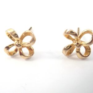 9ct Quad looped Earrings & Butterfly's Solid Gold 375 1.1 grams