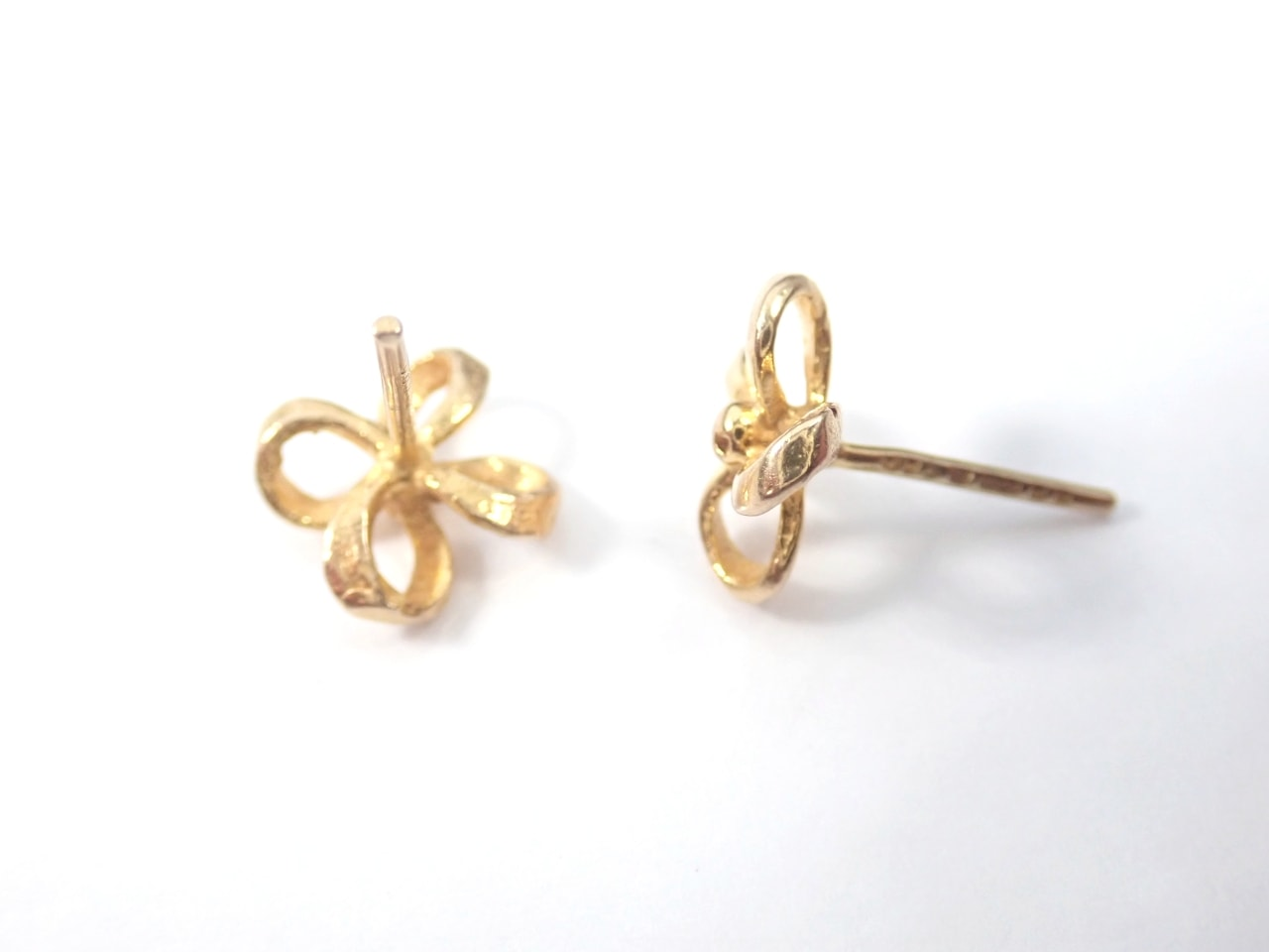 99ct Quad looped Earrings & Butterfly's Solid Gold 375 1.1 grams