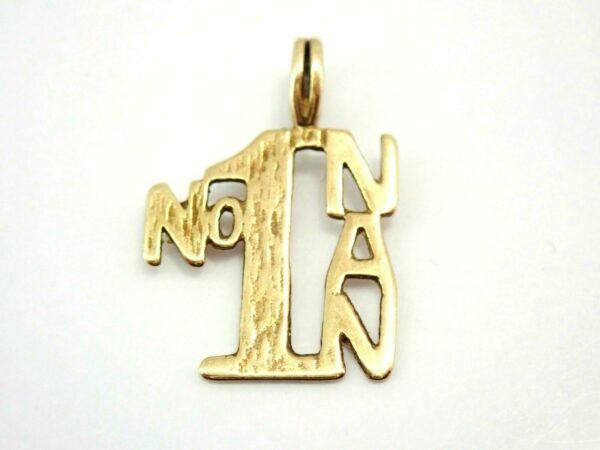 Gold No1 NAN Pendant and 16″ chain 9k Yellow Gold