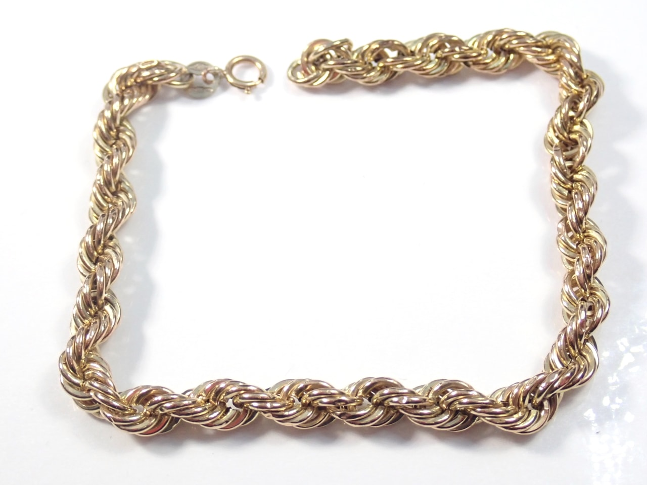 Cuban Rope Chain 9ct Gold 7 inches 2.8 grams