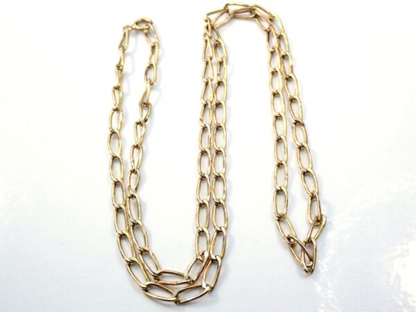 9ct Gold Anchor Chain 22 inch Necklace 4.0grams