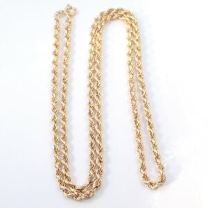 9ct Gold Cuban Rope Chain 22 inch 6.5 grams