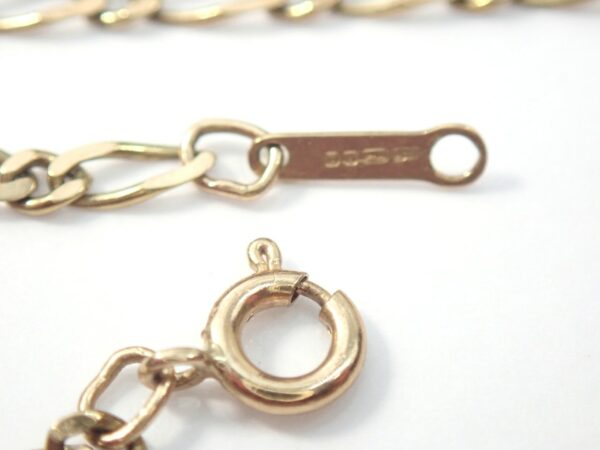 9ct Gold Figaro Bracelet 7 inches 1.30 grams