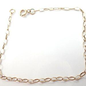 Anchor Chain Bracelet Solid 9K Gold Anklet 7.5 inch 1.1 grams