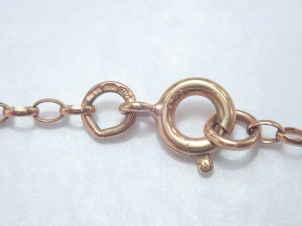 "Victorian Rose Gold Cross Crucifix Jesus 9K Gold Pendant 18 inch"" Belcher Chain"