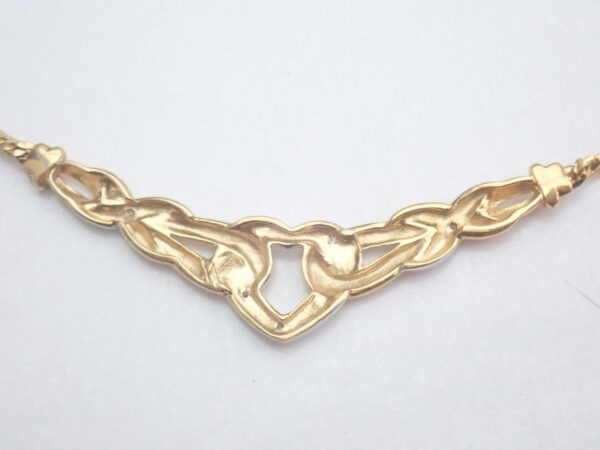Diamond set Heart Pendant 375 9k – 16.5 inch 9k gold Chain