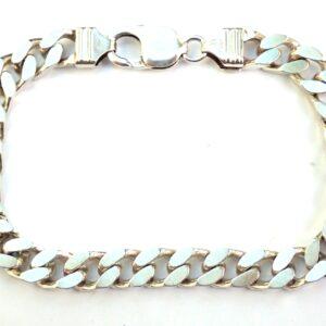 925 sterling silver Gents Curb bracket 8.75 inch 32.3G