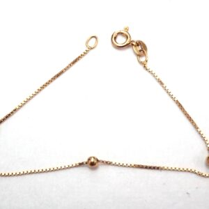 3 Ball Box Chain Bracelet 9ct Gold 7.0 inch 1.1grams