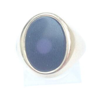 Oval Onyx 9 carat Gold Signet Ring – Size U – 6.4gms