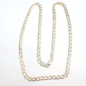 9ct 375 Gold Flat Linked Curb Chain 22 Inches 12.80 grams