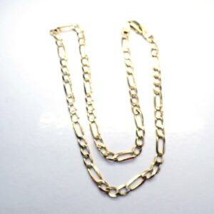 9ct 375 Gold Figaro Linked Chain Necklace 16 Inches 7.8 grams