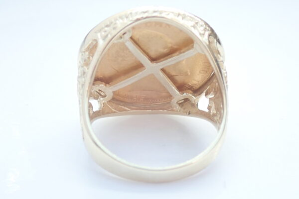 1906 22ct Gold Full Sovereign Ring – Solid 9ct Gold George Dragon mount