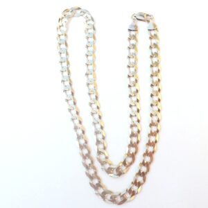 9ct 375 Gold Flat Linked Curb Chain 20 Inches 23 grams