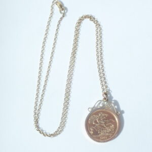 Gold Mount 20 inch Chain -2021 22Carat Gold Full Sovereign