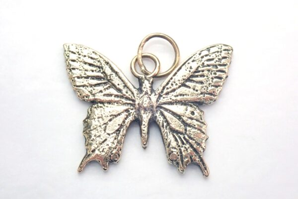Swallow Tail Butterfly Pendant Solid 375 9ct Gold Handmade