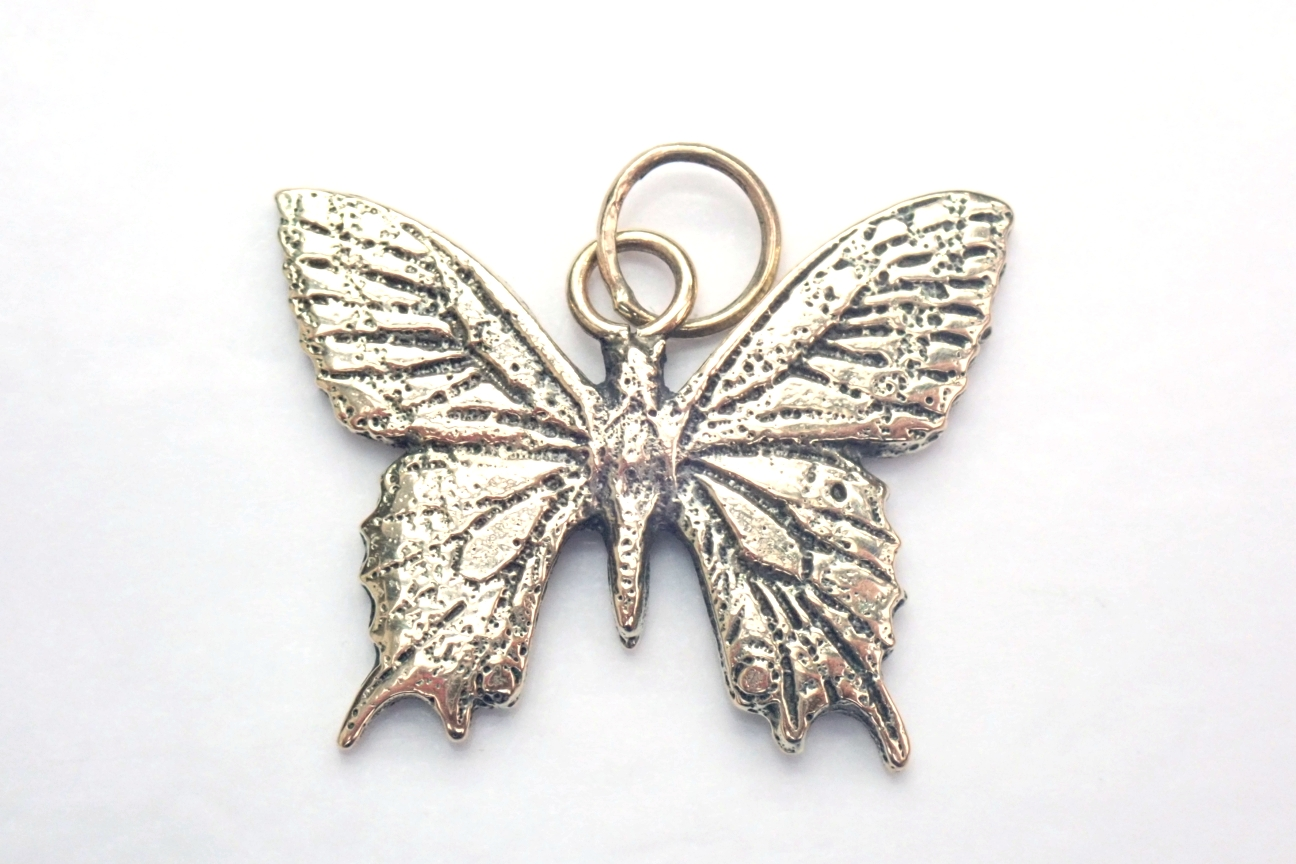 Swallow Tail Butterfly Solid 375 9ct Gold Handmade