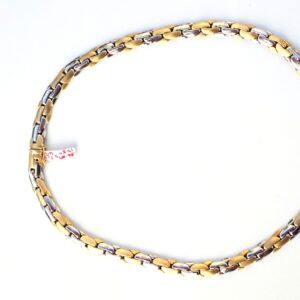 14k Yellow and White Gold 17.5 inch Necklace