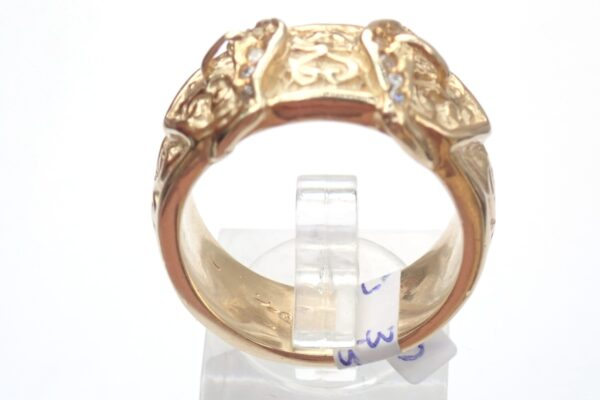 375 Cubic Zirconia Double Buckle Ring 9ct yellow gold