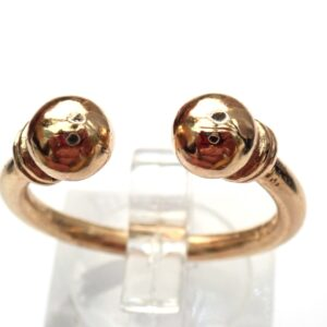 Solid 9ct Yellow Gold Torque Ring Size P to T