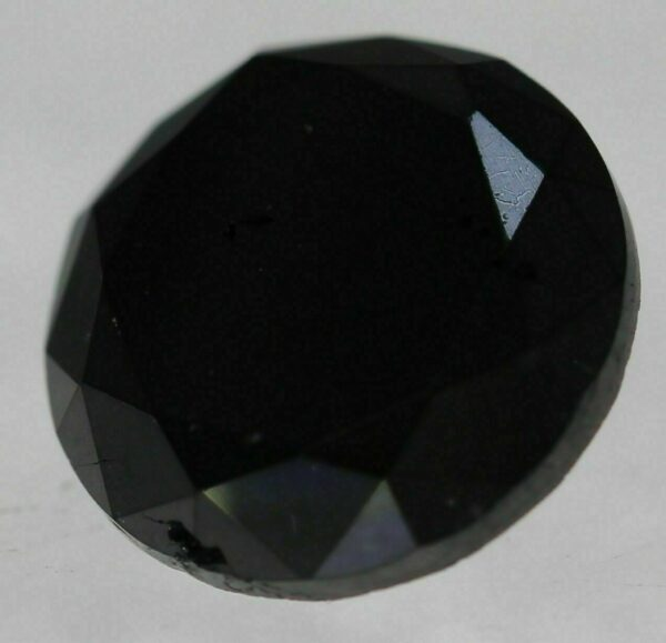 Certified 1.32 Carat Fancy Black Round Brilliant Natural Diamond 6.96mm #50