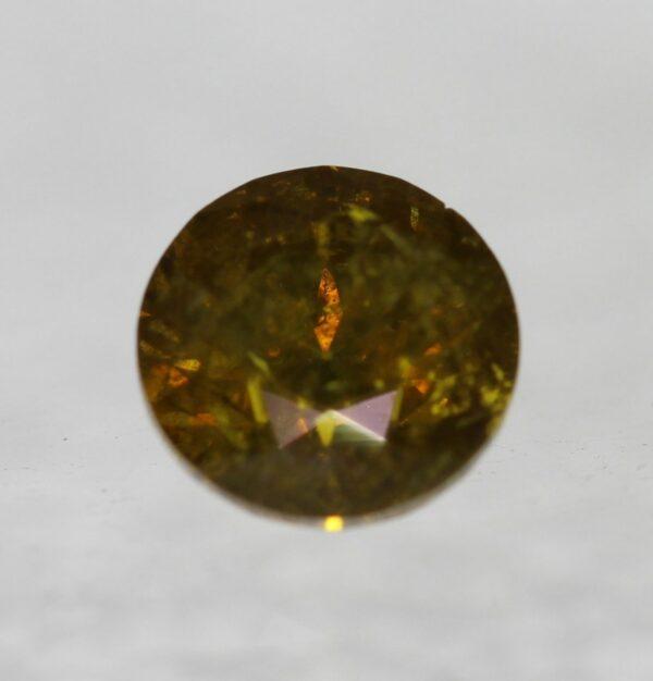 Cert 0.77 Carat Vivid Orange SI3 Round Brilliant Natural Diamond RRP $1647 #137