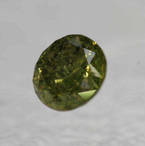 Cert 1.00 Carat Vivid Yellow Round Brilliant Natural Diamond 6.05mm #180