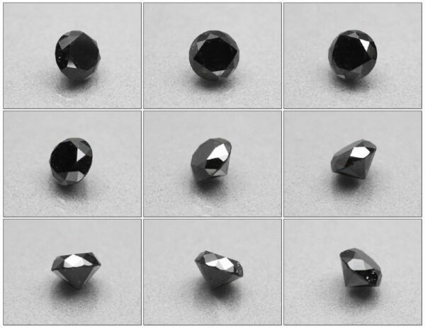 Certified Black Diamond 1.34ct 6.30mm Round Brilliant Natural Fancy #80
