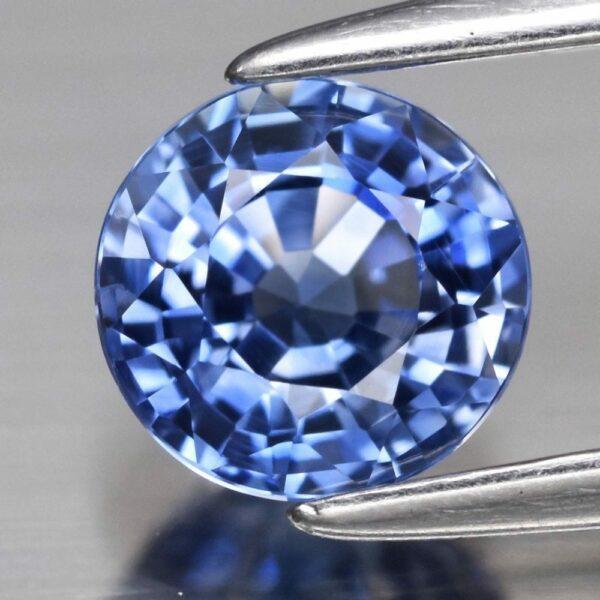 GIA 0.78 carat IF Clarity Round 5.3mm Natural Blue Sapphire CertCeylon 200