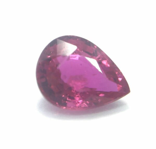 Ruby 0.20ct 3.9×3.2mm Pear Natural Unheated Untreated Red Ruby,Mozambique #15