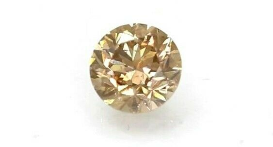 Stunning CertIfied 0.64 Ct Vivid Brown VS1 Round Natural Diamond 5.29mm Video#00
