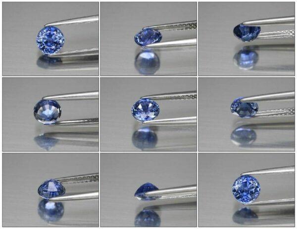 Super Clean! Certified 0.86ct  IF Round Natural Blue Sapphire Ceylon, Video #150