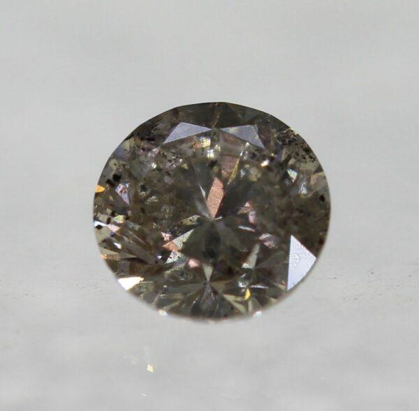 0.19 Carat Diamond Fancy Vivid Brown VS2 Round Brilliant Natural 3.40  #21