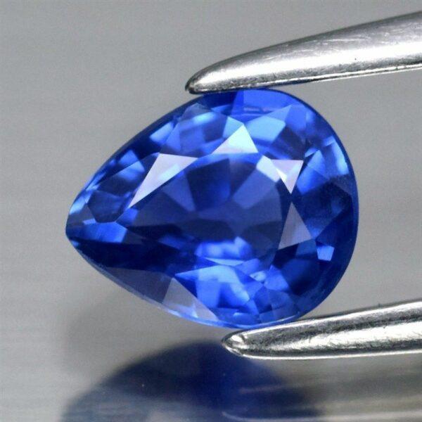 0.52ct 5.2×4.3mm Pear Natural Blue Sapphire VVS Ceylon Sri-Lanka,Video #22