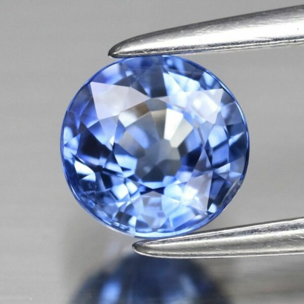AIGS Cert Super Clean! 0.88ct 5.4mm IF Round Natural Blue Sapphire Ceylon, #100