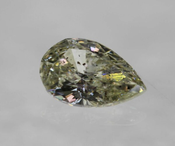 0.33 Carat K Color SI2 Pear Certified Natural Diamond 3.97X5.93mm EX VG #47