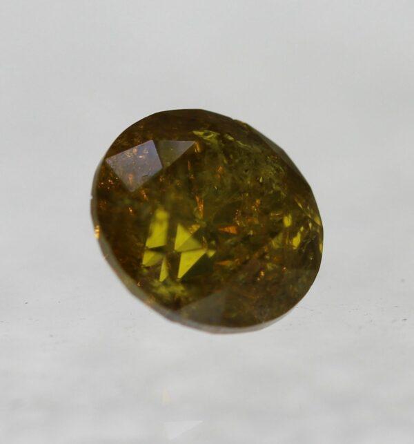 Cert 0.77 Carat Vivid Orange SI3 Round Brilliant Natural Diamond rrp$1647 #137