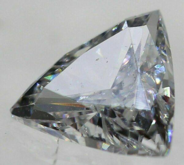 Certified 0.25 Carat D VVS2 Triangle Natural Diamond 4.61×4.65mm 2EX #110