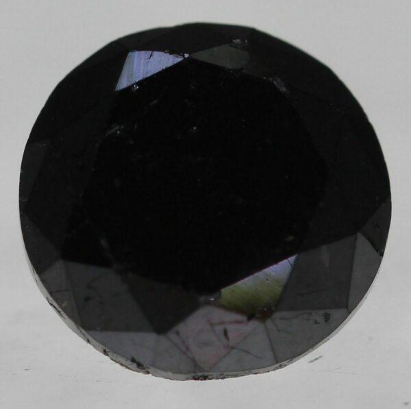 Certified Massive Black Diamond 1.34ct 6.30mm Round Brilliant Natural Fancy #80