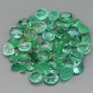 1psc 1.5 to 2.5mm Round Natural Green Emerald, #.30