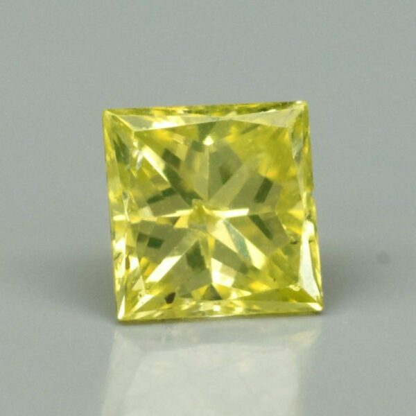 Rare! 0.10ct SI Square Princess Natural Fancy Yellow Diamond, Amazing #21