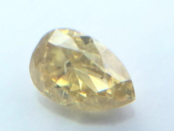 0.15 Carat Fancy Vivid Yellow Pear Shape Natural Loose Diamond 3.77X2.55mm  #20#