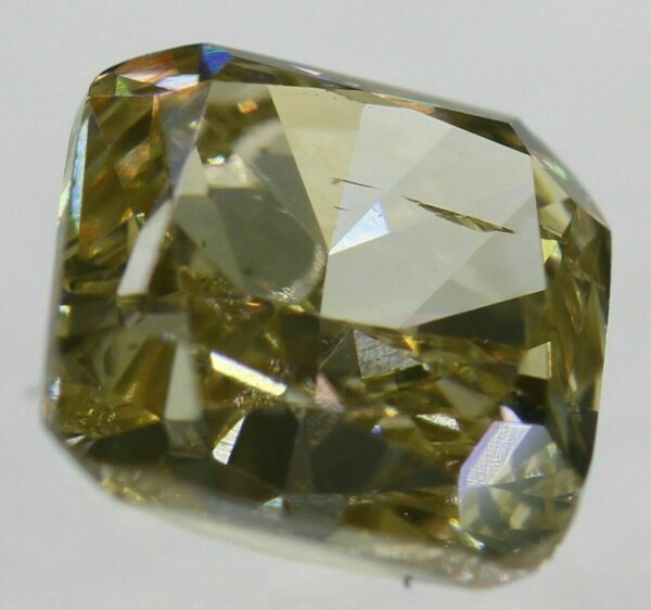 0.15 Carat Fancy Yellow VS2 Cushion Natural Loose Diamond 2.82X2.55mm #31