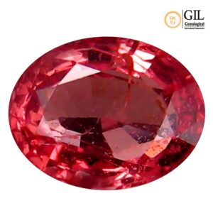 "0.64 ct ""GIL"" Certified 100% Natural Orange Pink Color PADPARADSCHA Sapphire #30"